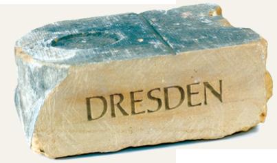 Dresden - Stein aus dem Rathaus