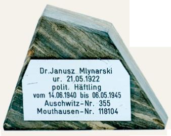 Dr. Mlynarski - KZ Auschwitz - Haeftling Nr. 355
